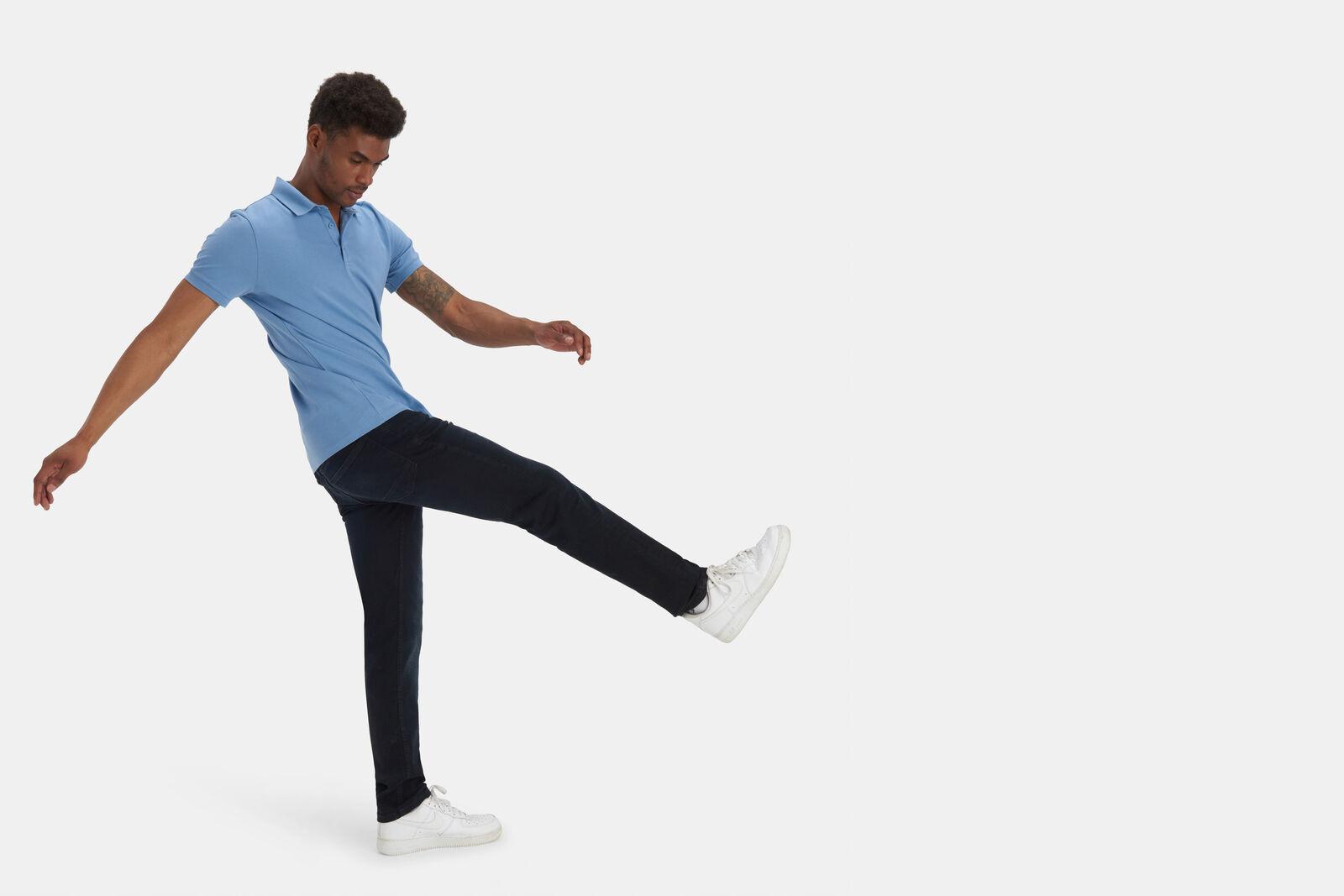 Lewis Straight Blue/Black Jeans L32