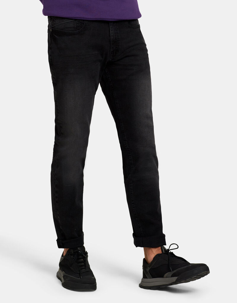 Lewis Straight Washed Black Jeans L34