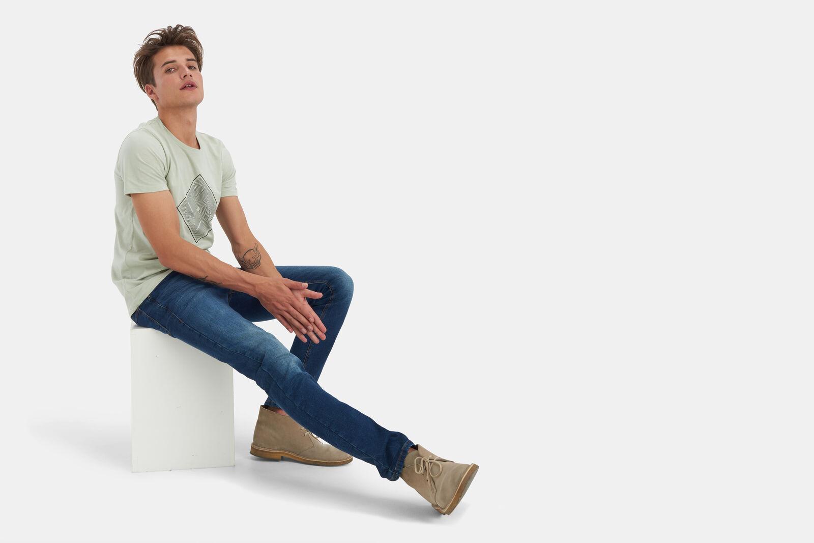 Lucas Slim Gym Dark Jeans L32