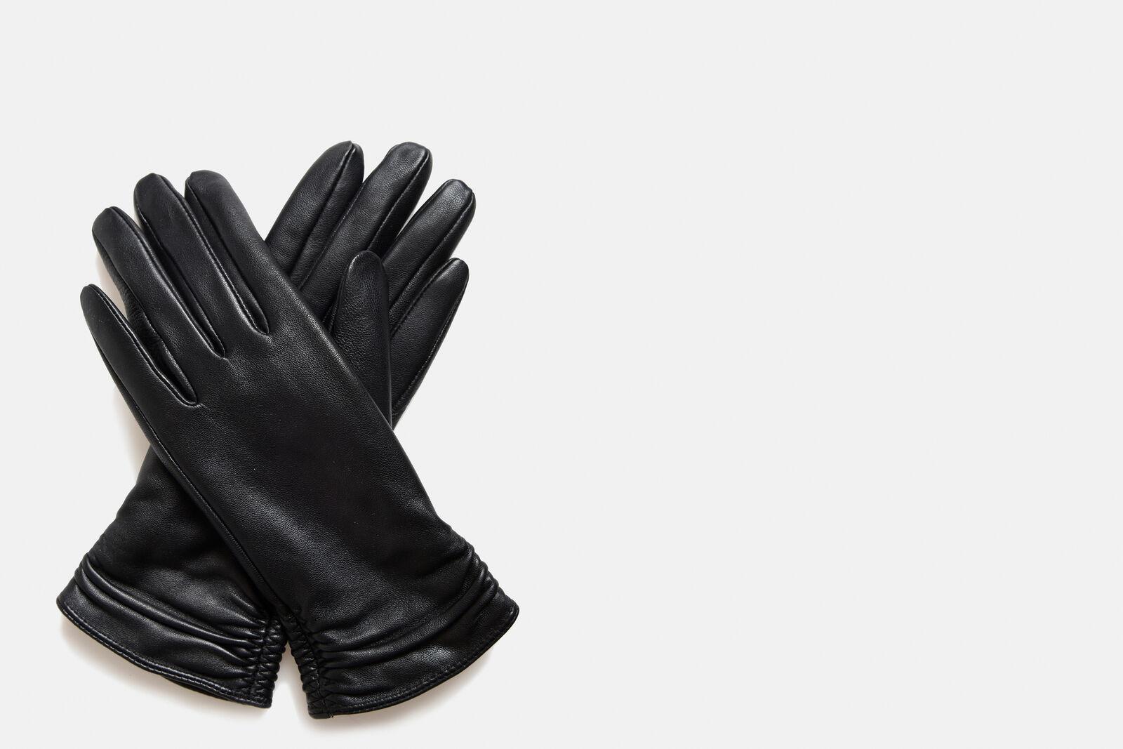 Fem Leren Handschoenen