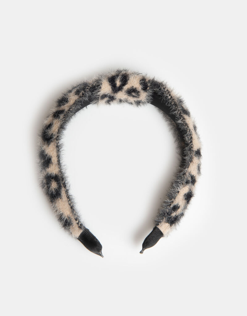 Leo Fur Knot Haarband