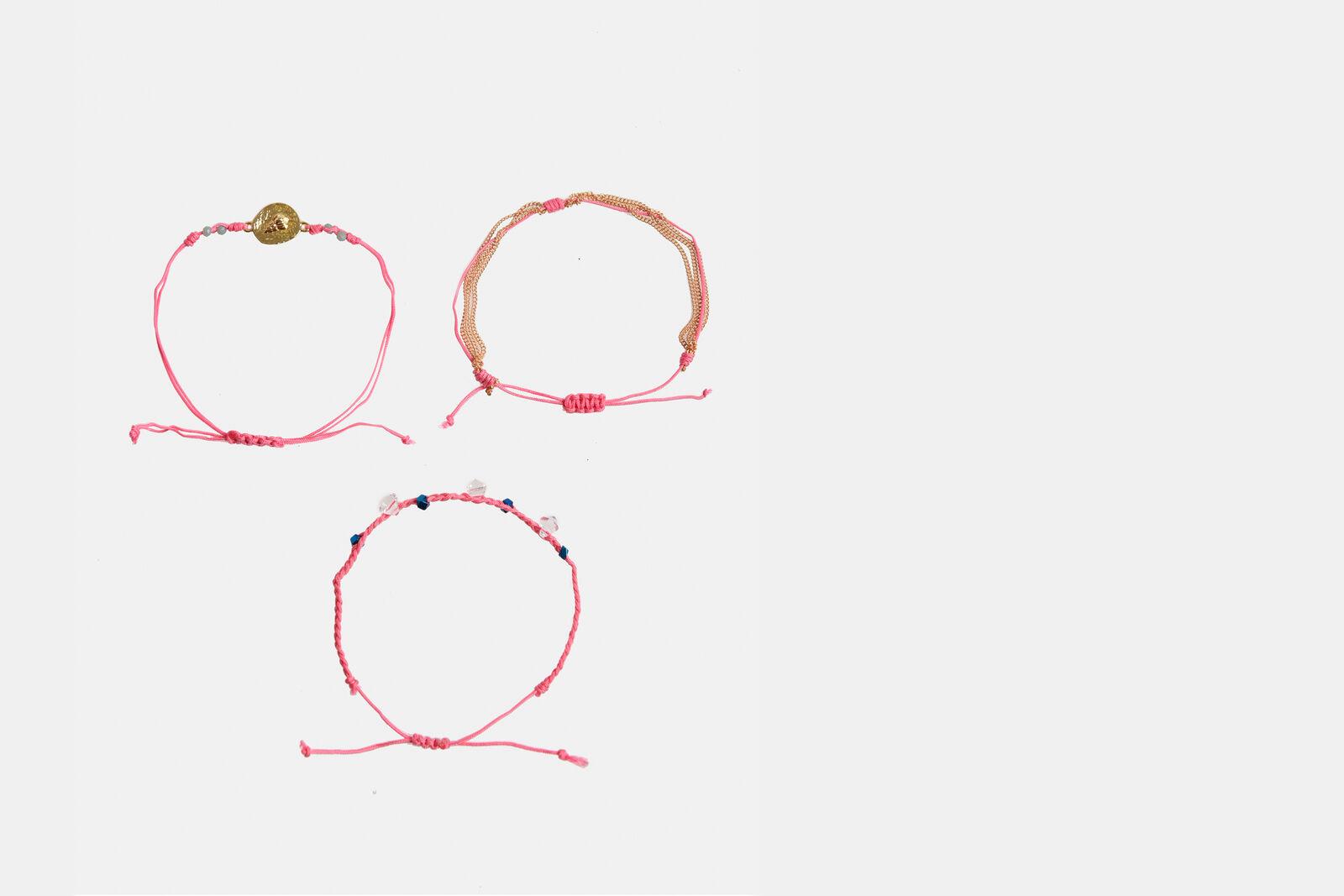 Pink Mix Armbanden
