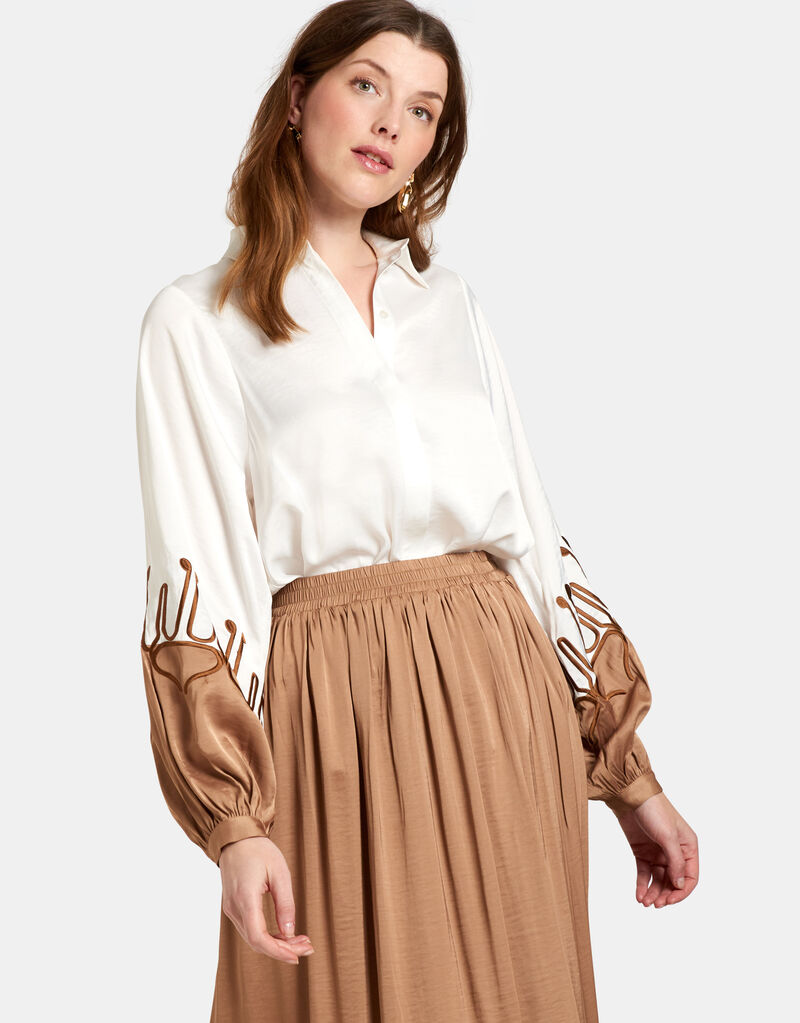 Contrast Blouse by Mieke