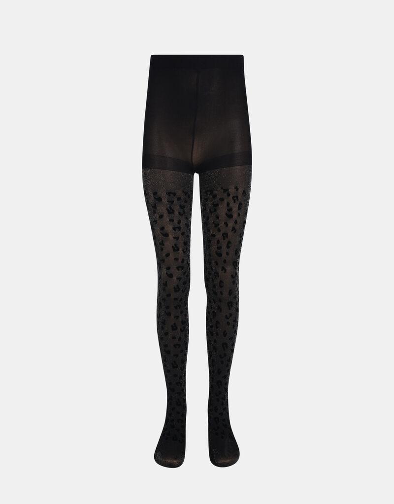 Flock Leopard Glitter Panty