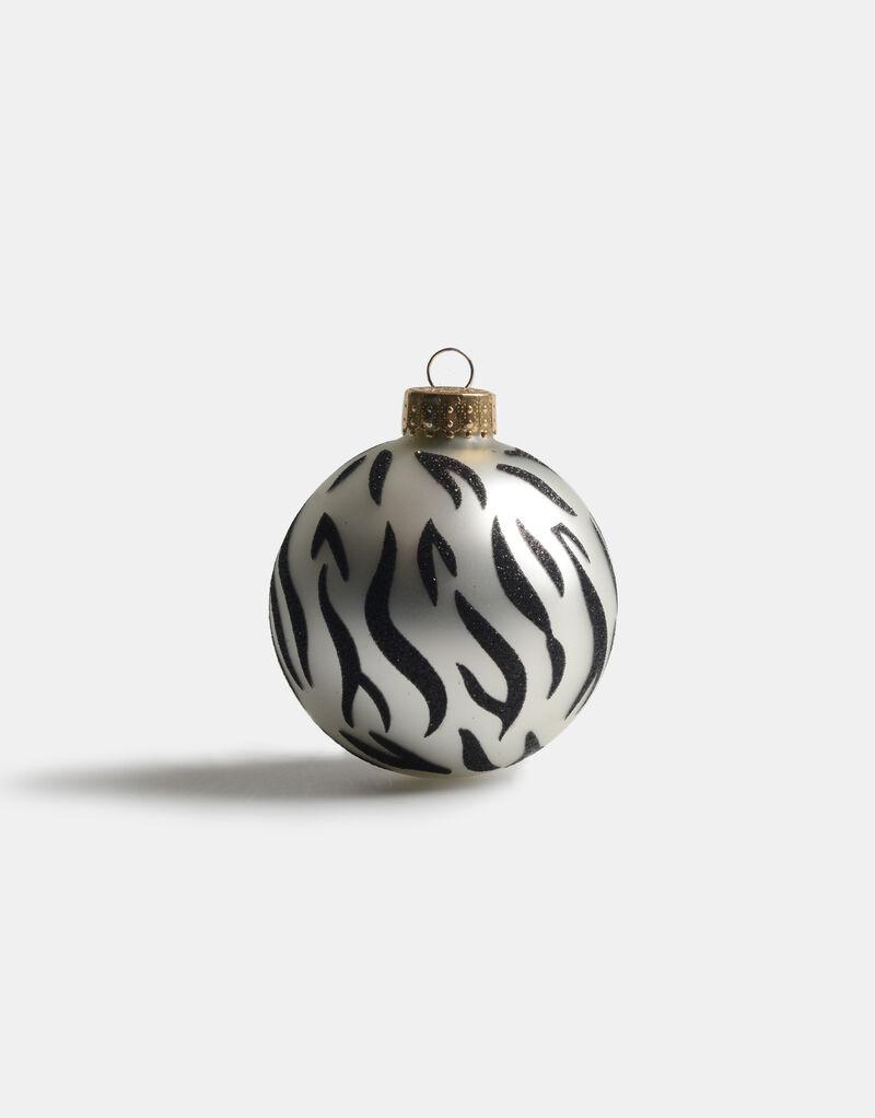 Zebra Stripe Kerstbal by Fred