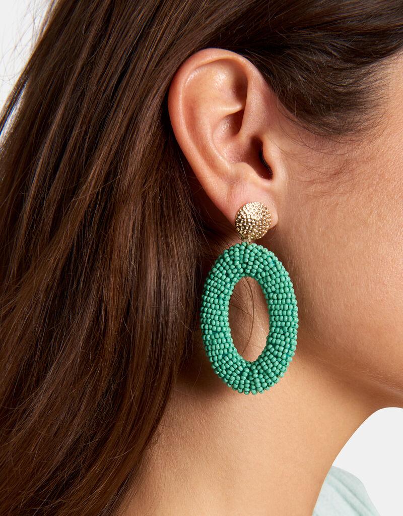 Mint oorbellen