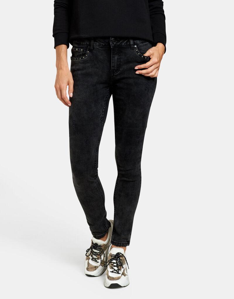 Stud Skinny Jeans